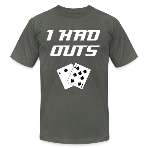 I Had Outs (WWW) | Top 10 Classic Poker Excuses Tee-Shirt - Men's Fine Jersey T-Shirt