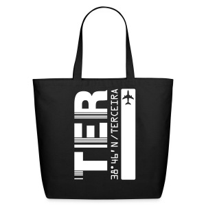 Terceira airport code Azores Portugal TER black with barcode tote / beach  bag - Eco-Friendly Cotton Tote