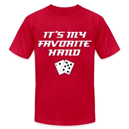 It's My Favorite Hand (WWW) | Top 10 Classic Poker Excuses Tee-Shirt - Men's Fine Jersey T-Shirt