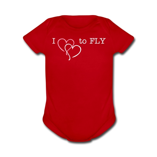 I Heart to FLY - Organic Short Sleeve Baby Bodysuit