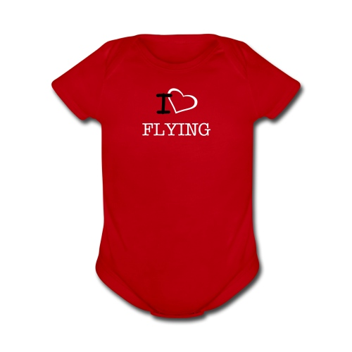 I Heart FLYING - Organic Short Sleeve Baby Bodysuit
