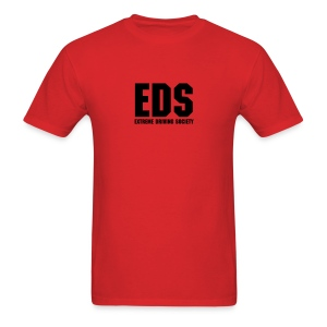 EDS Plain Logo (Red) - Men's T-Shirt