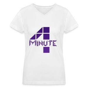 4minute - 4M Logo - Women's V-Neck T-Shirt