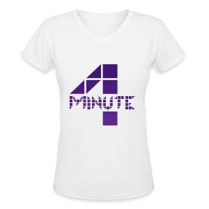 4minute - 4M Logo - Women's V-Neck T-Shirt