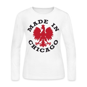 Made In Chicago Polish - Women's Long Sleeve Jersey T-Shirt