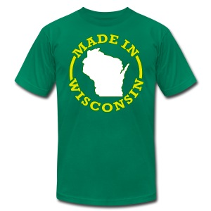 Made In Wisconsin - Men's T-Shirt by American Apparel