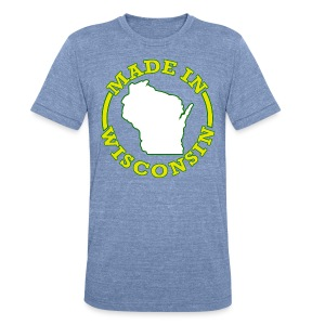 Made In Wisconsin - Unisex Tri-Blend T-Shirt by American Apparel