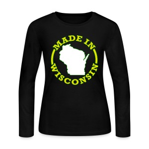 Made In Wisconsin - Women's Long Sleeve Jersey T-Shirt