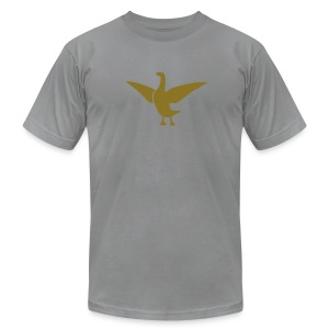 t-shirt goose duck chicken breast rooster wings thanksgiving cooking - Men's T-Shirt by American Apparel
