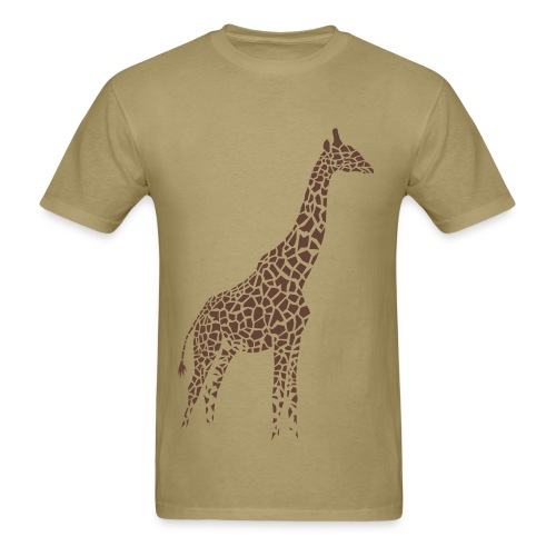 t-shirt giraffe afrika serengeti camelopard safari zoo animal wildlife desert - Men's T-Shirt
