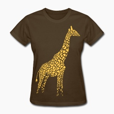 giraffe afrika serengeti camelopard safari zoo animal wildlife desert Women's T-Shirts