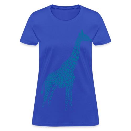 t-shirt giraffe afrika serengeti camelopard safari zoo animal wildlife desert - Women's T-Shirt