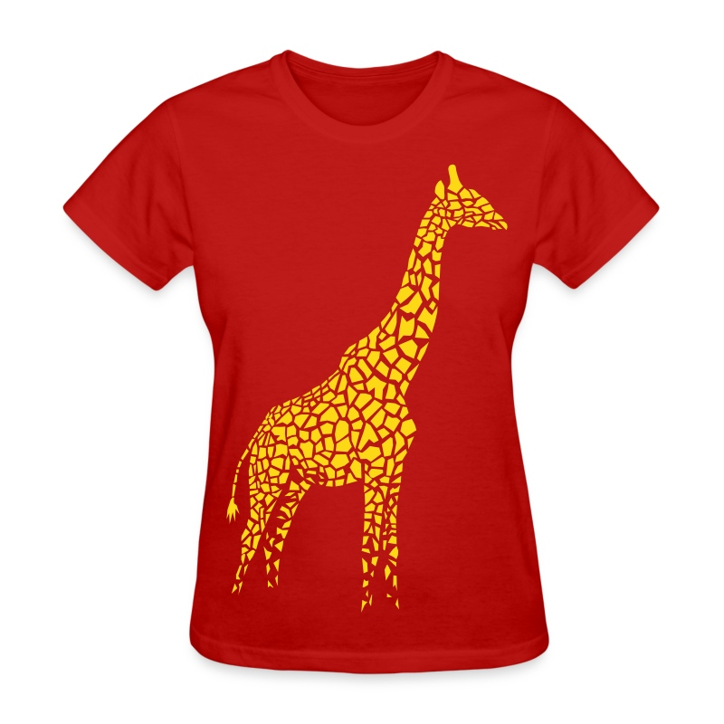 t-shirt giraffe afrika serengeti camelopard safari zoo animal wildlife desert - Women's T-Shirt