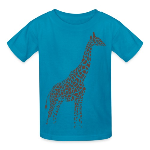 t-shirt giraffe afrika serengeti camelopard safari zoo animal wildlife desert - Kids' T-Shirt