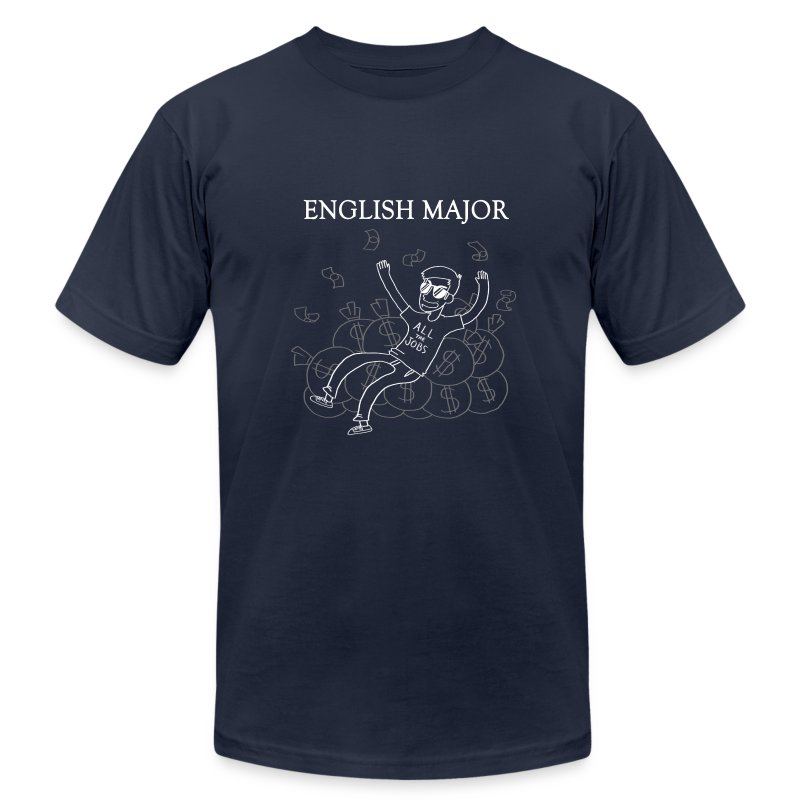 English Major Shirt - Men's T-Shirt by American Apparel