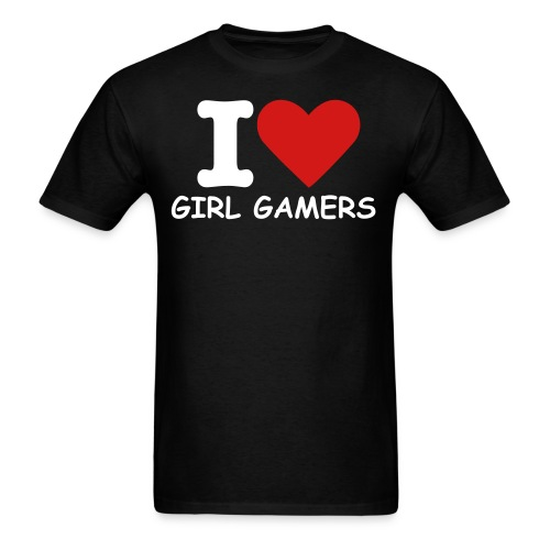 I Love Girl Gamers - Men's T-Shirt