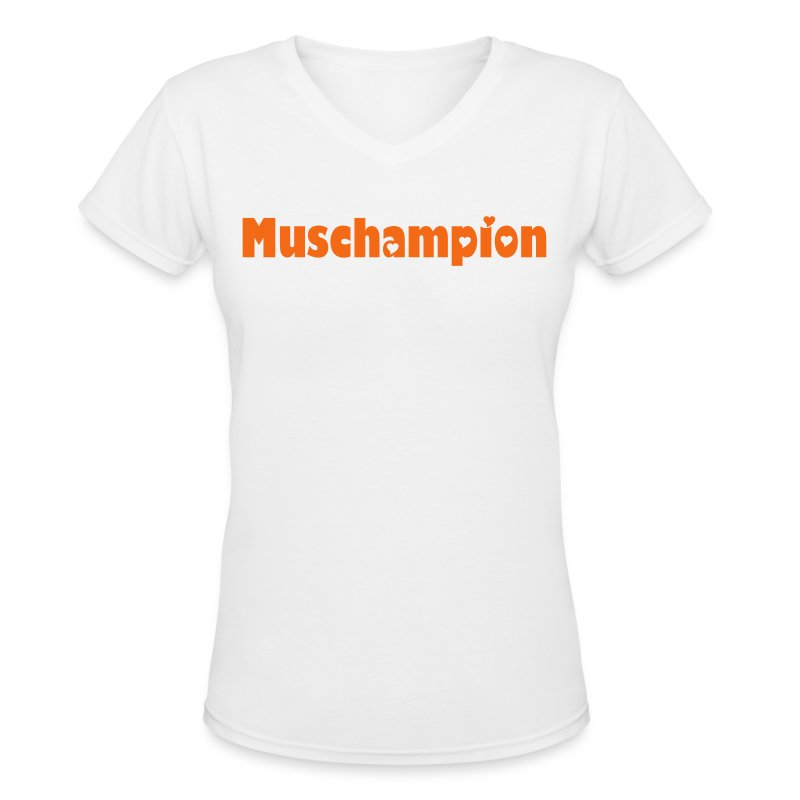 Women's Muschampion T-Shirt - Women's V-Neck T-Shirt