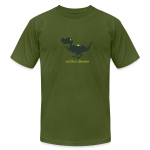 Eat Like a Dinosaur - Men's Tee - Men's T-Shirt by American Apparel