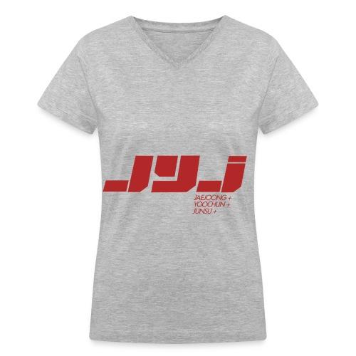 JYJ - Logo (Red) - Women's V-Neck T-Shirt