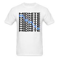 T-Shirts ~ Men's T-Shirt ~ MiDNiTE T-Shirt Black Font