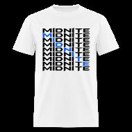T-Shirts ~ Men's T-Shirt ~ MiDNiTE T-Shirt Black Font
