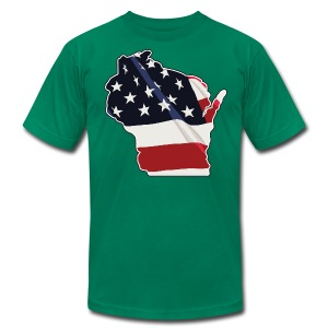 USA Wisconsin - Men's T-Shirt by American Apparel