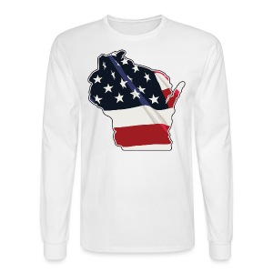 USA Wisconsin - Men's Long Sleeve T-Shirt