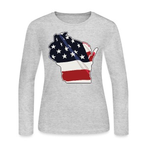USA Wisconsin - Women's Long Sleeve Jersey T-Shirt