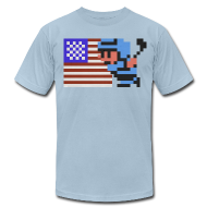 T-Shirts ~ Men's T-Shirt by American Apparel ~ NES Ice Hockey - USA Side-by-Side