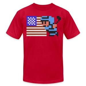 NES Ice Hockey - USA Side-by-Side - Men's T-Shirt by American Apparel