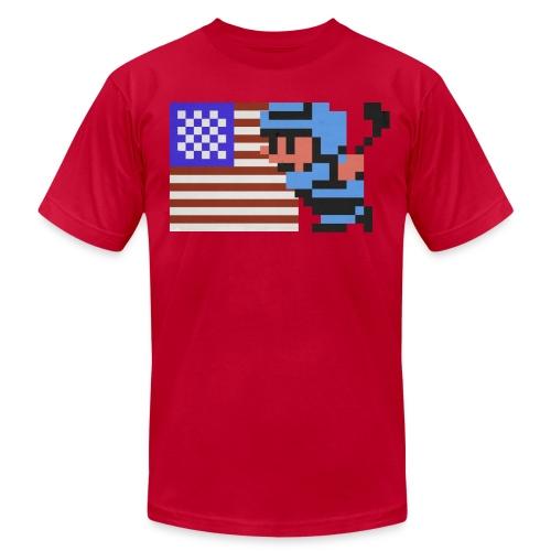 NES Ice Hockey - USA Side-by-Side - Men's Fine Jersey T-Shirt