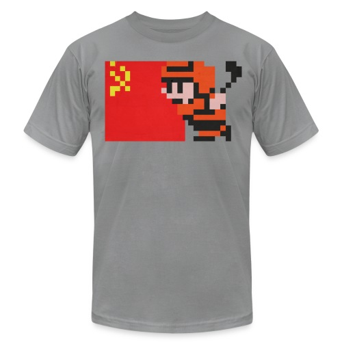 NES Ice Hockey - USSR Side-by-Side - Men's Fine Jersey T-Shirt