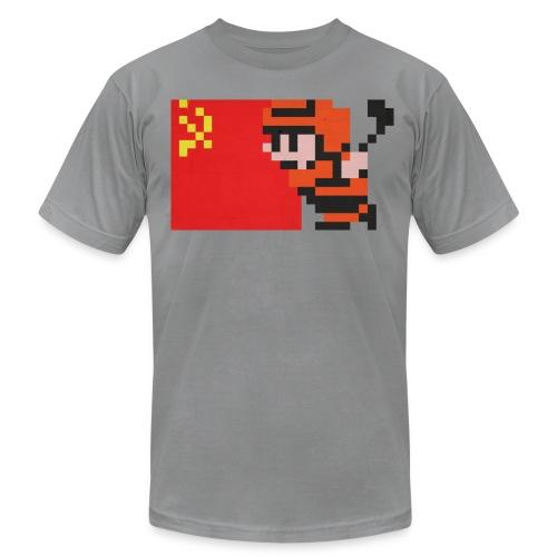 NES Ice Hockey - USSR Side-by-Side - Men's Fine Jersey T-Shirt