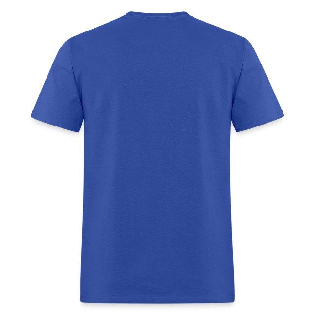 Men's Blue/White/Orange Stop The Wave Logo T-Shirt