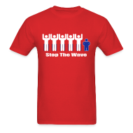 T-Shirts ~ Men's T-Shirt ~ Men's Red/White/Blue Stop The Wave Logo T-Shirt