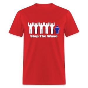 Men's Red/White/Blue Stop The Wave Logo T-Shirt - Men's T-Shirt