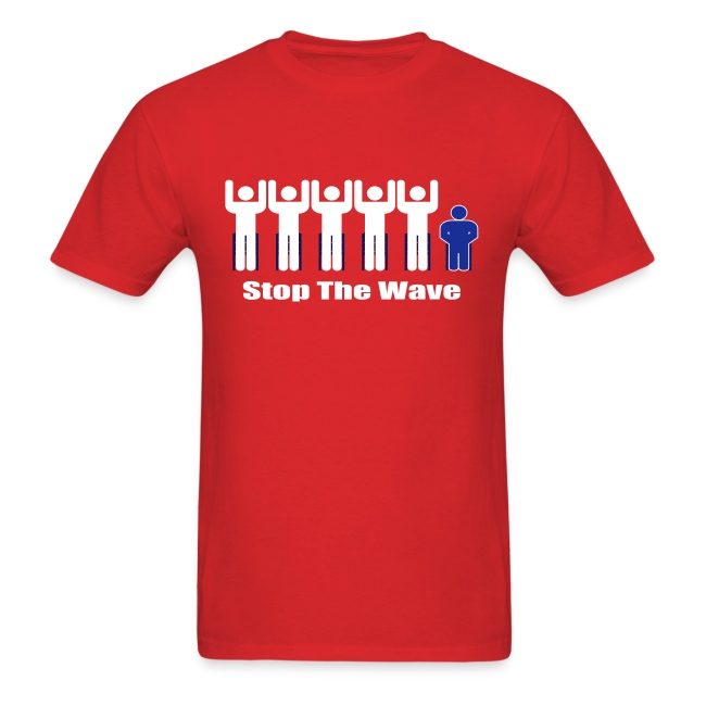 Men's Red/White/Blue Stop The Wave Logo T-Shirt