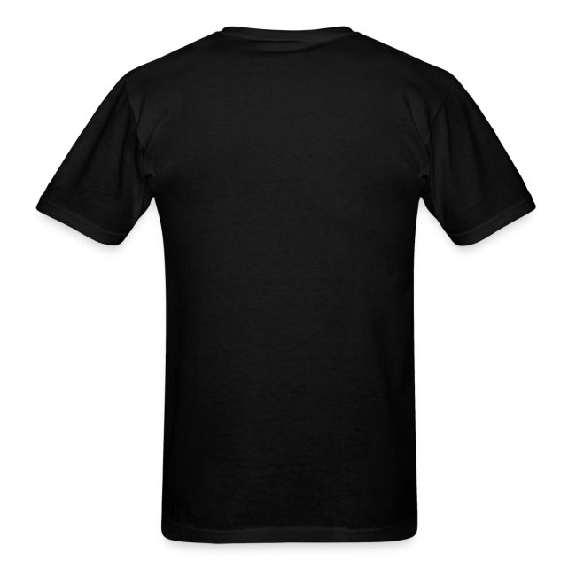 Men's Black/White/Orange Stop The Wave Logo T-Shirt