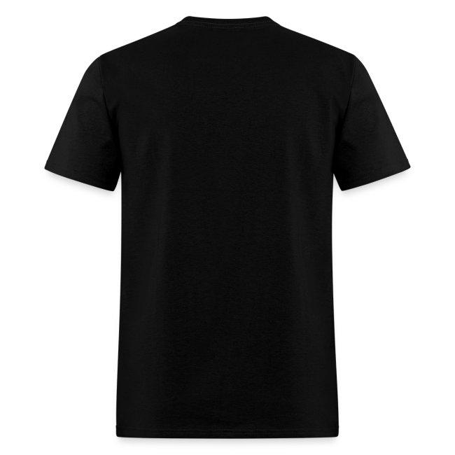 Men's Black/White/Silver Stop The Wave Logo T-Shirt