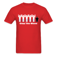 T-Shirts ~ Men's T-Shirt ~ Men's Red/White/Black Stop The Wave Logo T-Shirt