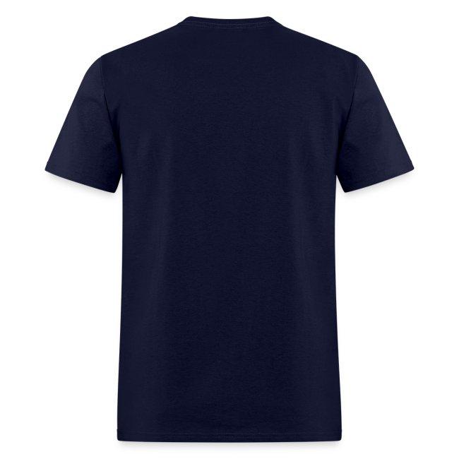 Men's Navy/White/Sky Blue Stop The Wave Logo T-Shirt