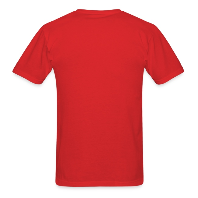 Men's Red/White/Silver Stop The Wave Logo T-Shirt