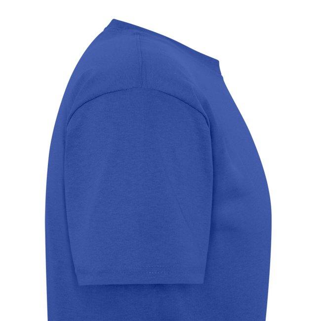 Men's Blue/White/Gold Stop The Wave Logo T-Shirt