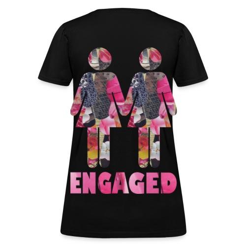 Engaged WOmen back - Women's T-Shirt