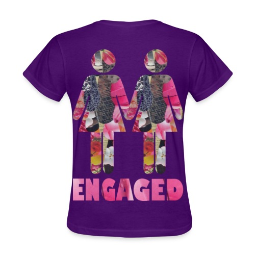 Engaged WOmen back purple - Women's T-Shirt