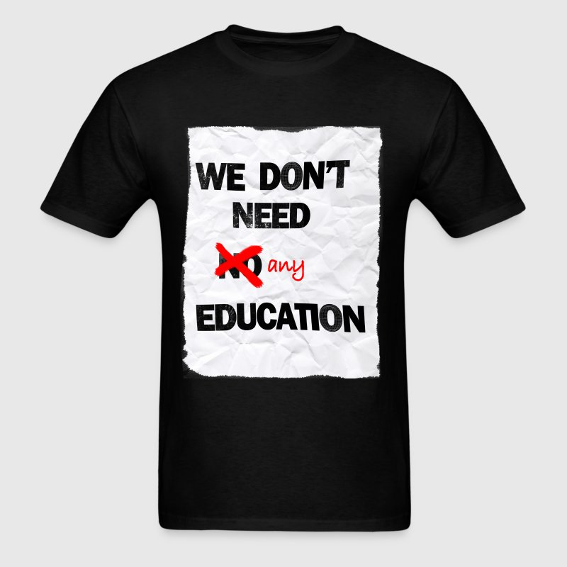 pink floyd no education shirt standard weight men - Men's T-Shirt