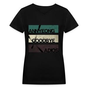 2NE1 - Annyeong Goodbye Adios - Women's V-Neck T-Shirt
