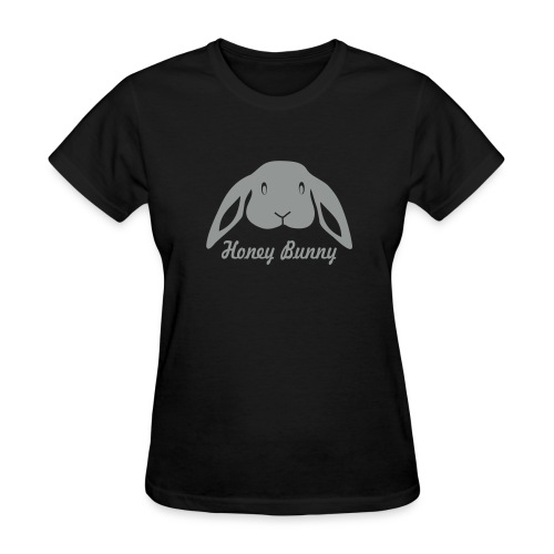 t-shirt rabbit bunny hare ears easter cute puss prey - Women's T-Shirt