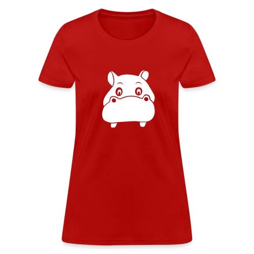 t-shirt hippo hippopotamus river horse afrika - Women's T-Shirt