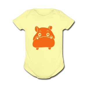 baby one piece hippo hippopotamus river horse afrika - Short Sleeve Baby Bodysuit